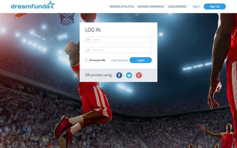 Screenshot of Login Page dreamfunda.com - Dreamfunda - captured Sept. 30, 2014