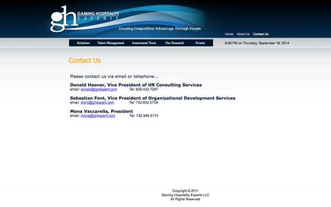 Screenshot of Contact Page homestead.com - Contact Us - GH Experts - captured Sept. 19, 2014