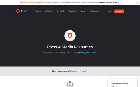 Screenshot of Press Page auth0.com - Press & Media Resources - Auth0 - captured Dec. 30, 2017