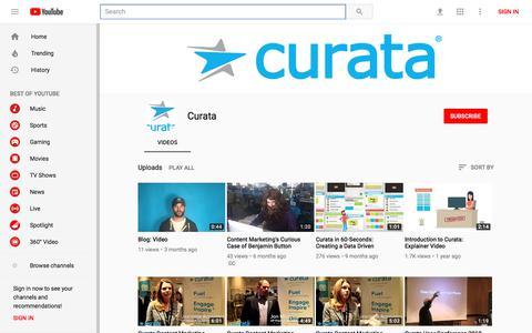 Curata - YouTube - YouTube