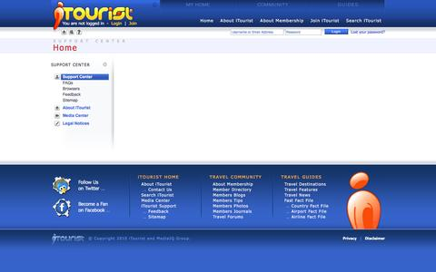 Screenshot of Support Page itourist.com - iTourist Support - captured June 4, 2016