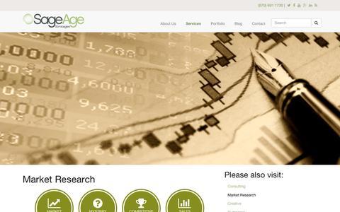 Screenshot of sageagestrategies.com - Market Research | Sage Age Strategies - captured March 19, 2016