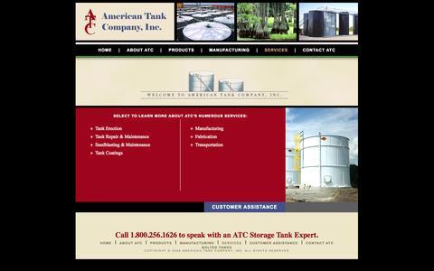 Screenshot of Services Page americantankco.com - American Tank Company - captured Oct. 4, 2014