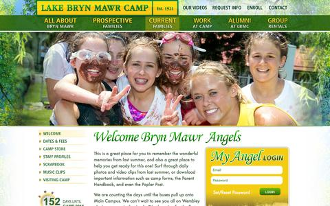 Screenshot of Login Page campbrynmawr.com - Lake Bryn Mawr Camp - Welcome Families of Our Girls' Camp in Pennsylvania! - captured Jan. 24, 2016