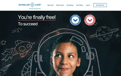 Screenshot of Home Page scholarchip.com - ScholarChip | School Safety | New York - captured July 27, 2018