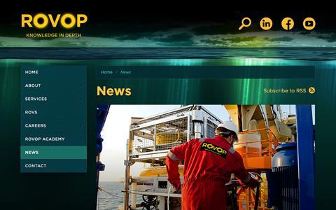 Screenshot of Press Page rovop.com - ROVOP - News - captured Sept. 17, 2014