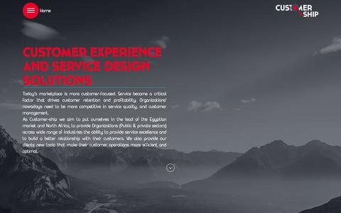 Screenshot of Home Page customer-ship.com - index - captured Dec. 12, 2015