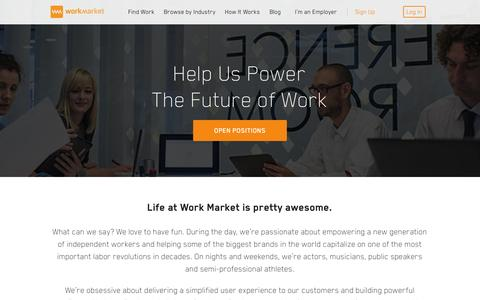 Screenshot of Jobs Page workmarket.com - Come Work at Work Market | Work Market - captured Oct. 26, 2015