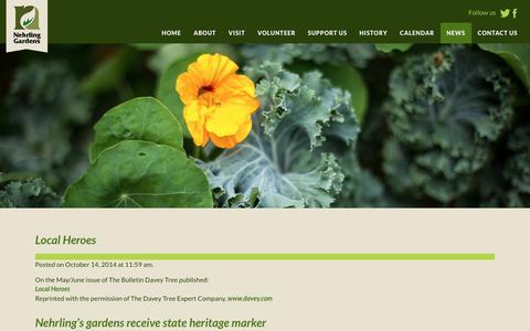 Screenshot of Press Page nehrlinggardens.org - News - Nehrling Gardens - captured Sept. 21, 2018