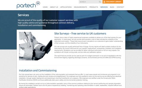 Screenshot of Services Page partech.co.uk - Services | Partech - captured Oct. 22, 2014