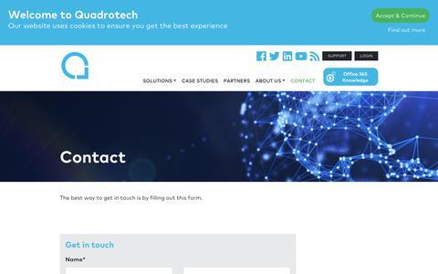 Screenshot of Pricing Page quadrotech-it.com - Contact - Quadrotech - captured July 19, 2018
