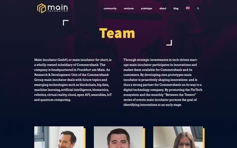 Screenshot of About Page main-incubator.com - about | main-incubator.com - captured Oct. 2, 2018