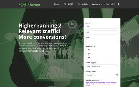 Screenshot of Home Page seo-arrow.uk - SEO Services UK | UK SEO for Business | SEO&Marketing - captured Oct. 6, 2018