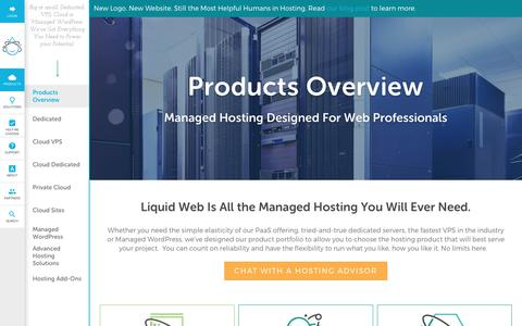 Screenshot of Products Page liquidweb.com - Hosting Products & Services   Liquid Web - captured Aug. 15, 2017