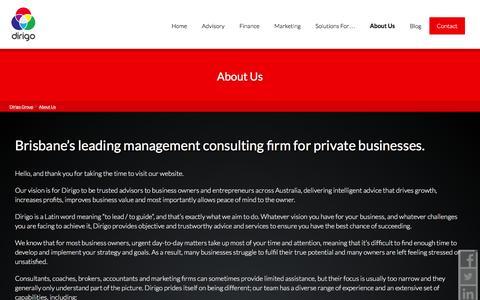 Screenshot of About Page dirigogroup.com.au - About Dirigo Group - captured Dec. 5, 2015