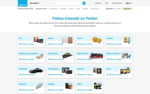 Follow Catawiki on Twitter - Catawiki