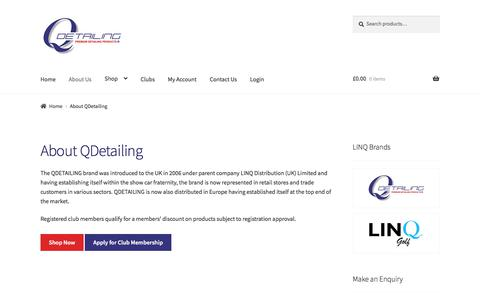 Screenshot of About Page qdetailing.co.uk - About QDetailing - QDetailing - captured Sept. 25, 2018