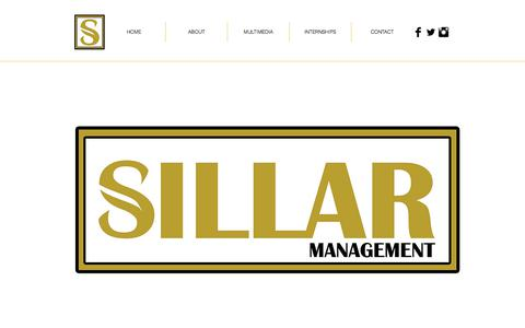 Screenshot of Home Page sillarmanagement.com - SILLAR Management - captured July 17, 2018
