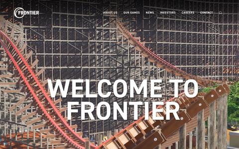 Screenshot of Home Page frontier.co.uk - Frontier - Ground-breaking Videogames - captured March 10, 2018
