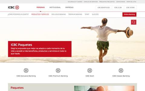 ICBC Paquetes con Cuentas y Tarjetas para Tu Conveniencia | ICBC