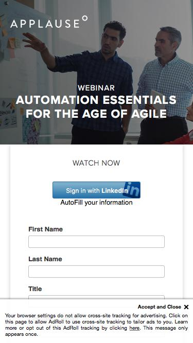 Webinar: Automation Essentials for the Age of Agile