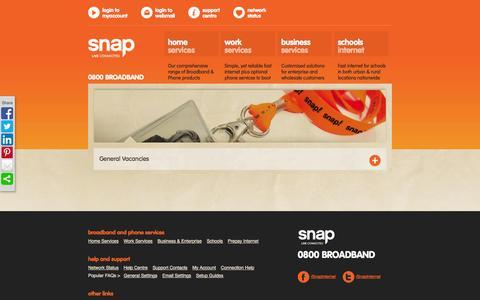 Screenshot of Jobs Page snap.net.nz - Snap. - Careers - captured Oct. 26, 2014
