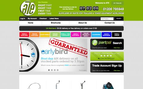 Screenshot of Home Page Testimonials Page ate-uk.com - Trailer Parts and Towing Equipment  | ATE UK - captured Oct. 4, 2014