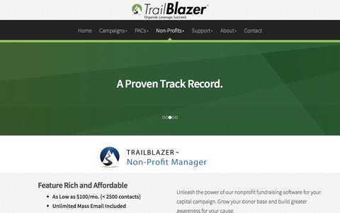 Screenshot of Pricing Page trailblz.com - Demonstration Signup - captured Sept. 23, 2018