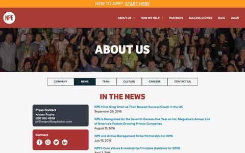 Screenshot of Press Page netprofitexplosion.com - About Us | Net Profit Explosion - captured Nov. 5, 2016