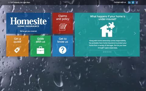 Screenshot of Home Page homesite.com - Homesite - Home Insurance - captured June 18, 2015