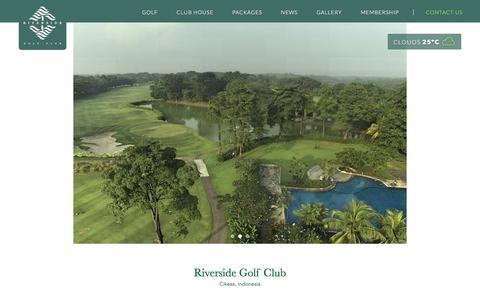 Screenshot of Home Page riverside-golf.com - Riverside Golf - captured June 13, 2016