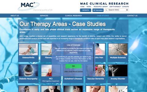 Screenshot of Case Studies Page macplc.com - Case Studies | MAC - captured Sept. 28, 2017