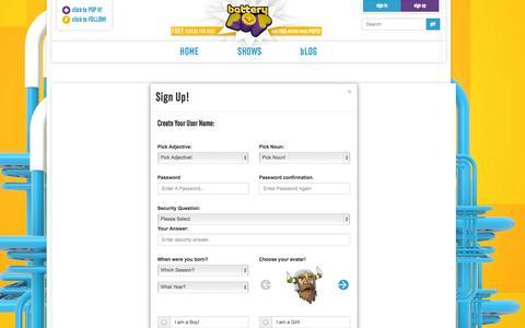 Screenshot of Signup Page batterypop.com - batteryPOP - captured Sept. 30, 2014