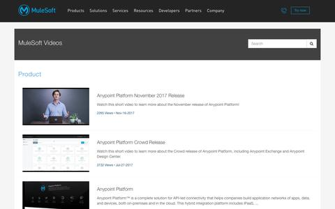 Product - MuleSoft Videos