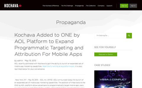 Kochava Added to ONE by AOL Platform to Expand Programmatic Targeting and Attribution For Mobile Apps