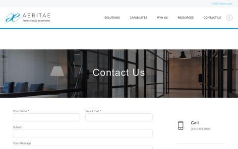 Contact Us – AERITAE
