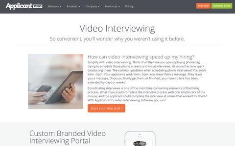 Video Interviewing | ApplicantPro