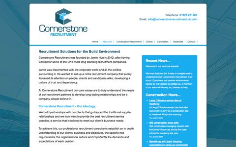Screenshot of About Page cornerstoneconstructionrecruitment.co.uk - About Cornerstone Recruitment | Construction Industry Specialist South West - captured Oct. 3, 2014
