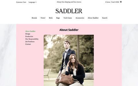 Screenshot of About Page saddler.com - About Saddler | Saddler.com - captured Sept. 23, 2014