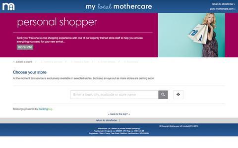 mothercare personal shopper