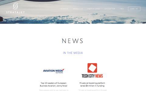 Screenshot of Press Page stratajet.com - Stratajet in the News | Stratajet - captured Aug. 14, 2016