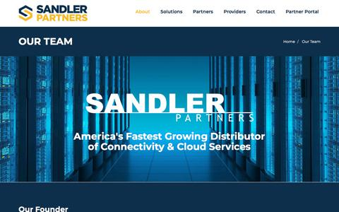 Screenshot of Team Page sandlerpartners.com - Our Team   Sandler Partners - captured Feb. 3, 2020