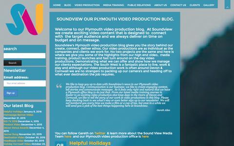 Screenshot of Blog soundviewmedia.co.uk captured Jan. 13, 2016