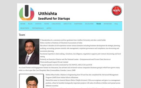 Screenshot of Team Page utthishta.com - Team | Utthishta - captured Sept. 30, 2014