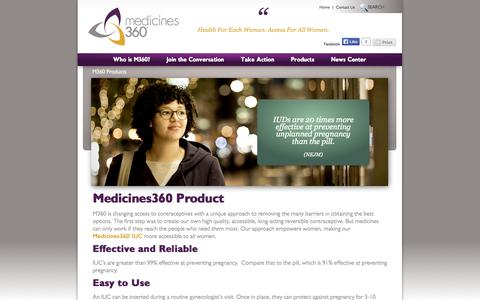 Screenshot of Products Page medicines360.org - Medicines360 Products | Medicines360 - captured Sept. 30, 2014