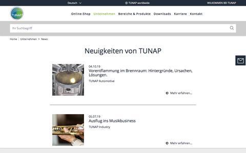 Screenshot of Press Page tunap.com - Presse und News   TUNAP - captured Nov. 30, 2019
