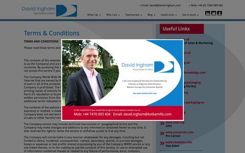 Screenshot of Terms Page david-ingham.com - Terms & Conditions - David Ingham Associates Ltd - captured Feb. 8, 2016