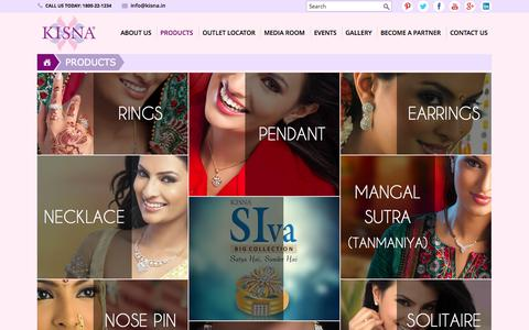 Screenshot of Products Page kisna.com - Diamond Jewellery Designs, Latest Jewellery Designs in Gold & Diamond - captured Oct. 30, 2014