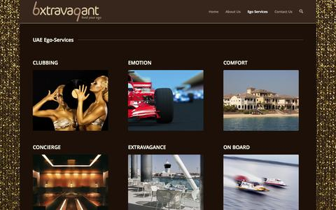 Screenshot of Services Page bxtravagant.com - UAE Ego-Services | bxtravagant - feed your ego - captured Oct. 5, 2014
