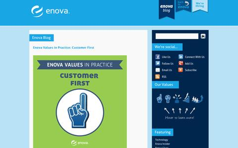 Screenshot of Blog enova.com - Enova Blog | Enova - captured Sept. 19, 2014